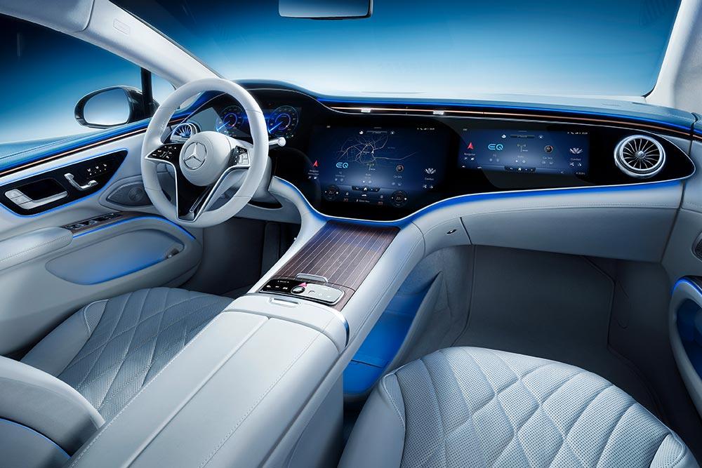 Το φαντασμαγορικό ταμπλό της νέας Mercedes EQS