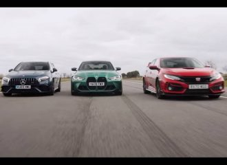 AMG A45 S vs M3 Competition vs Civic Type R (+video)