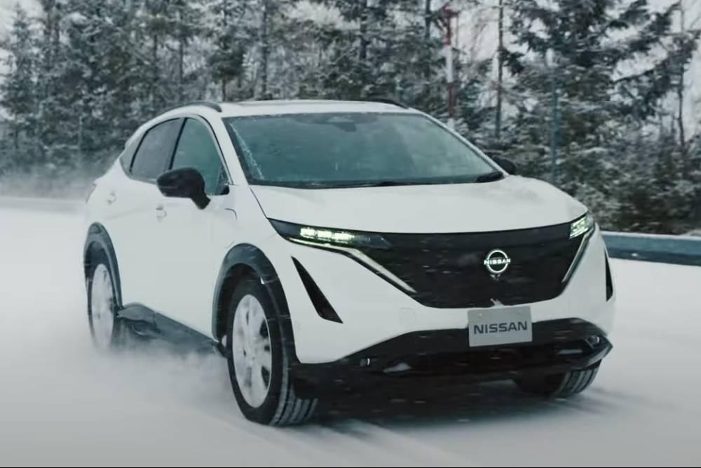 """Ο Nissan """"τεντώνει"""" την Ariya σε δοκιμές (+ βίντεο)"""