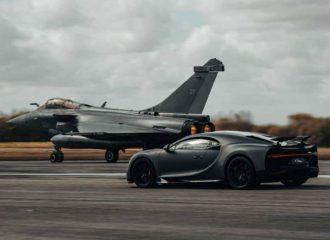 Επετειακή Bugatti Chiron «ανοίγει» με Rafale! (+video)
