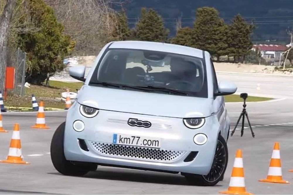 «Σκορπιός» το Fiat 500e στον τάρανδο (+video)