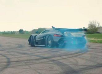 Καμένο λάστιχο με Koenigsegg Jesko (+video)
