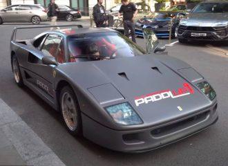 Γκρι ματ Ferrari F40 στα όρια του βέβηλου (+video)