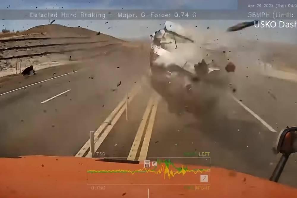 Τρομακτικό τρακάρισμα με Nissan 350Z (+video)
