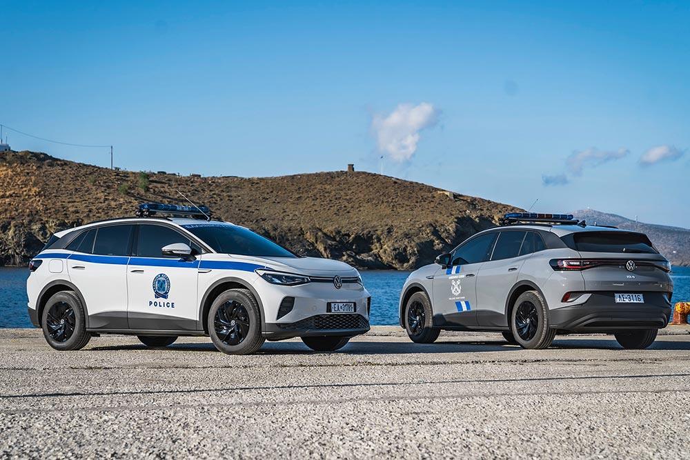 Σώματα ασφαλείας με VW ID.4 στην Αστυπάλαια