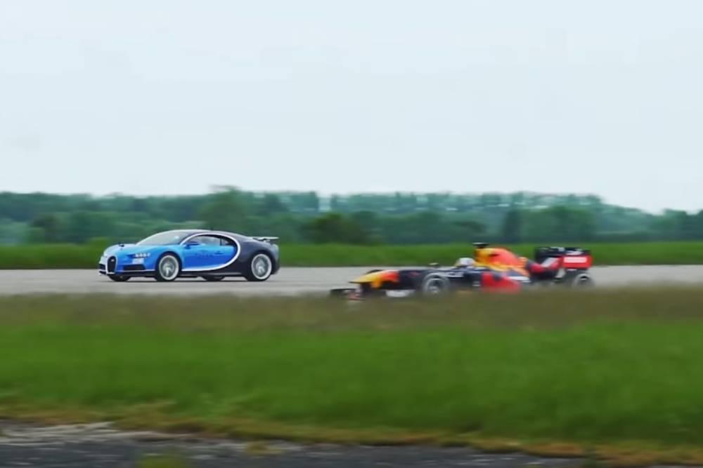 Bugatti Chiron «ρίχνει» σε Formula 1! (+video)