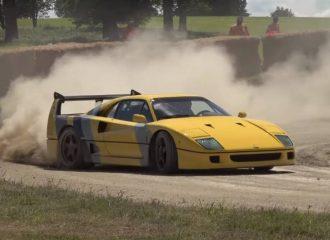 Ferrari F40 δεν κωλώνει σε καταστάσεις WRC (+video)
