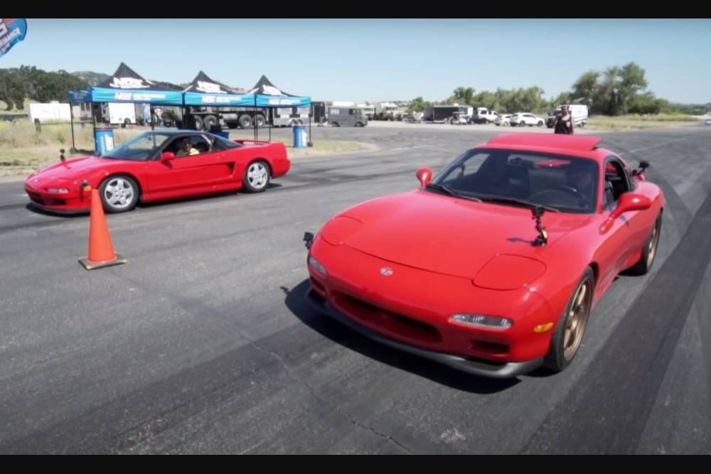 Επική μονομαχία Mazda RX-7 και Honda NSX (+video)