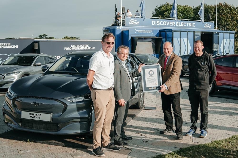 Ρεκόρ Γκίνες για την κατανάλωση της Mustang Mach-E
