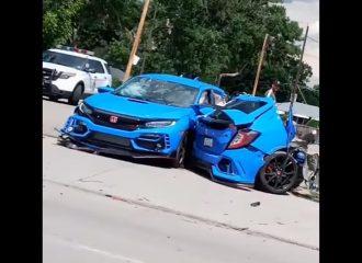 Honda Civic Type R διαμελίστηκε – οι επιβάτες γλίτωσαν