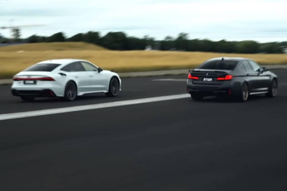 Η BMW M5 CS κουνάει μαντήλι στο Audi RS 7 (+video)