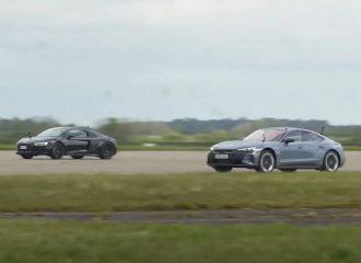 To Audi RS e-tron GT καταδυναστεύει το R8 (+video)