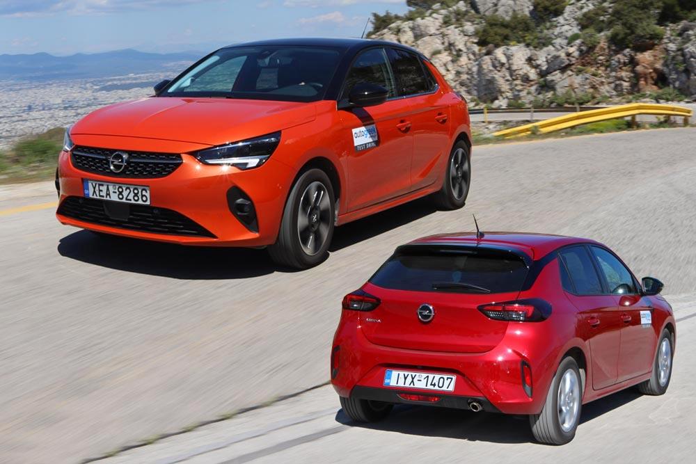 Opel Corsa-e VS 1.2T 100 PS: Χαοτικές διαφορές