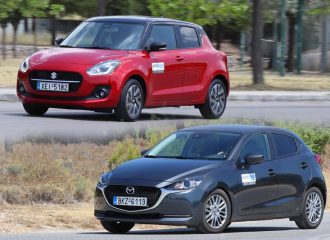 Mazda2 1.5 λτ. 90 PS Vs Suzuki Swift 1.2 83 PS