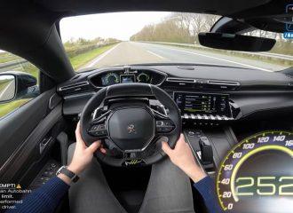 Το Peugeot 508 PSE βρυχάται στην autobahn (+video)