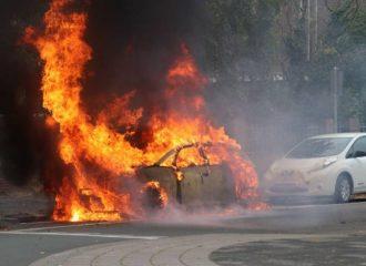 VW ID.3 έγινε παρανάλωμα του πυρός (+video)
