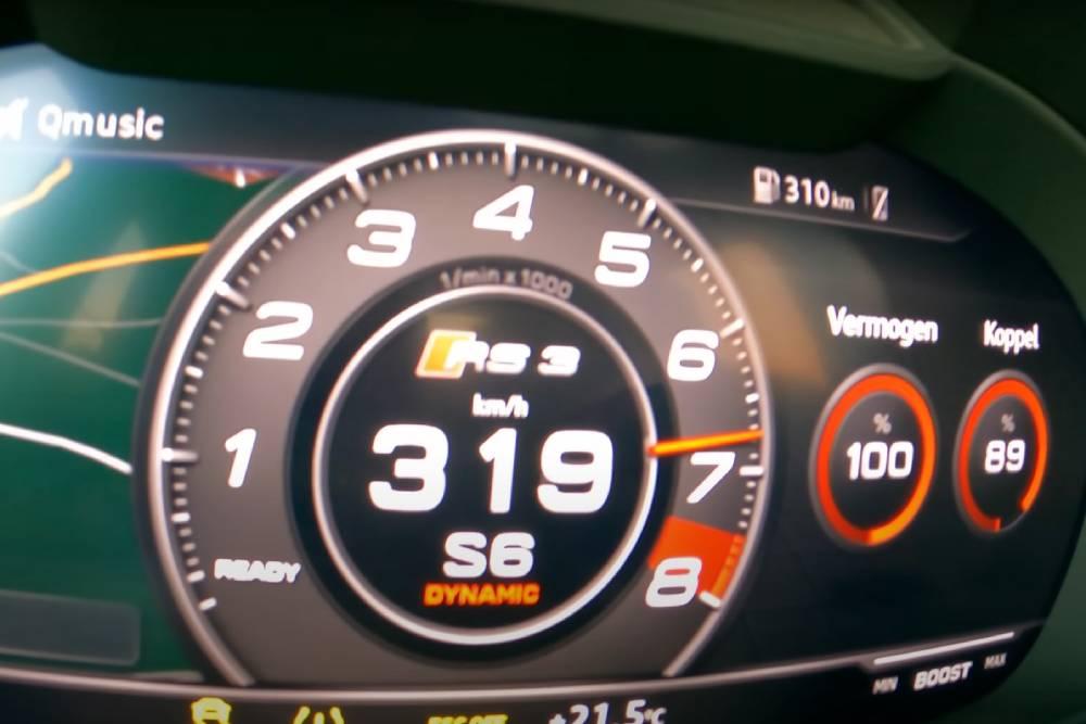 Audi RS 3 675 HP «γλείφει» τα 320 χλμ./ώρα (+video)