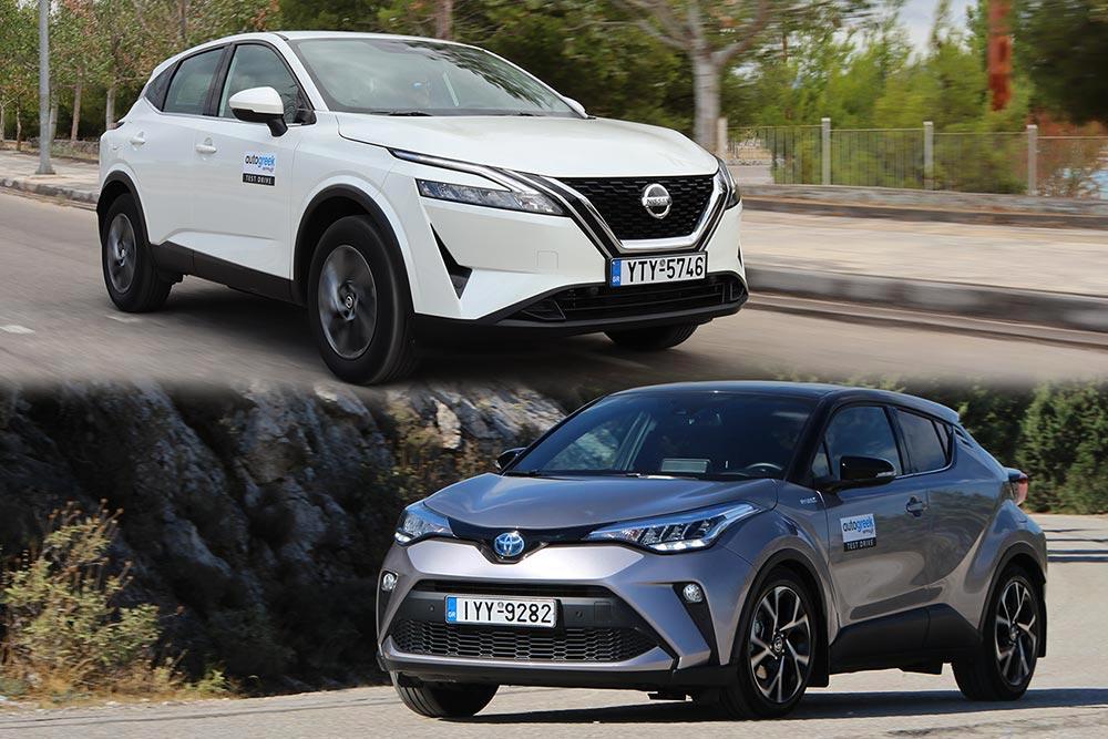 Nissan Qashqai 1.3 140 PS VS Toyota C-HR 1.8 122 PS