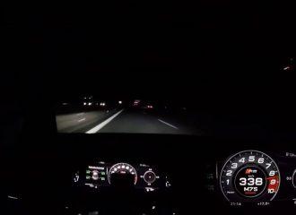 Audi R8 822HP με 338 χλμ./ώρα στα σκοτάδια (+video)