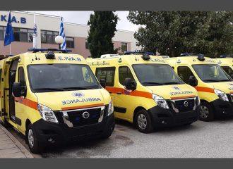 25 ασθενοφόρα Nissan NV400 για το ΕΚΑΒ