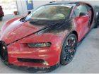 Ευκαιρία καψαλισμένη Bugatti Chiron