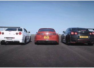 Τα Nissan GT-R βάζουν στη μέση τη Supra (+video)