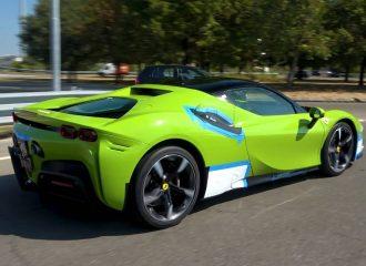 «Αλλόθρησκη» Ferrari SF90 σε χρώμα Lamborghini
